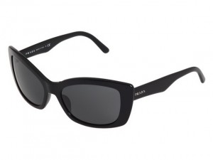 Zebra Striped Ladies Sunglasses Black Frame Smoke 004