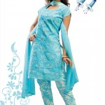 decent sky blue girls salwar kameez desings