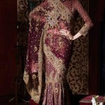 embridered saree for bridals 2012-2013