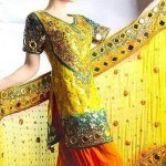 Beautiful Mehndi Dresses 2012 For Pakistani Woman Wedding By Ethnic Couture 0014