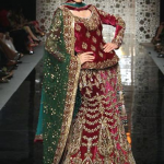 Bridal winter lehenge choli fashion styles