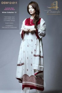 Dareecha Latest Winter Party Wear Dresses 2012-13 For Women 004