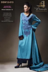 Dareecha Latest Winter Party Wear Dresses 2012-13 For Women 005
