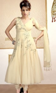 Excellent Neck Embroidered Party Wear Dresses 003