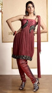 Excellent Neck Embroidered Party Wear Dresses 007