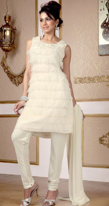 Excellent Neck Embroidered Party Wear Dresses