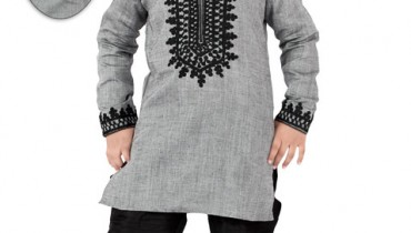 Grey Linen Eid Kurta Collection 2012