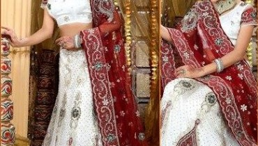 Latest Beautiful & Gorgeous White Bridal Lehenga Dresses 2012 For Women 001