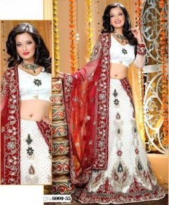 Latest Beautiful & Gorgeous White Bridal Lehenga Dresses 2012 For Women 0011