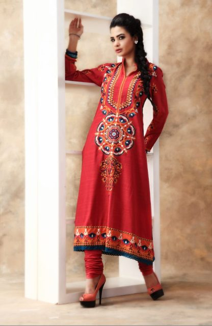New & Beautiful Eid Dress Winter Fall Collection 2012-13 For Women By Nimsay