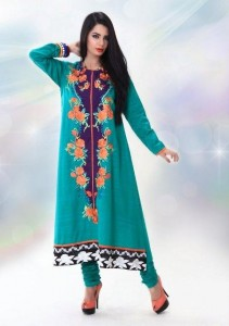 New & Beautiful Eid Dresses Winter Fall Collection 2012 For Women By Nimsay