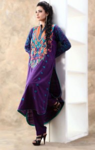 New & Beautiful Party wear Eid Dress Winter Fall Collection 2012 For Women By Nimsay