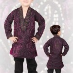 Purple Banarasi Kurta with Salwar Eid Collection 2012