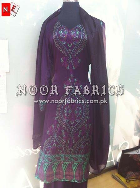 Sana Safinaz Silk Collection 2012 Stitched By NOOR Fabrics 008