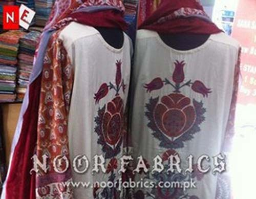 Sana Safinaz Silk Collection 2012 Stitched By NOOR Fabrics