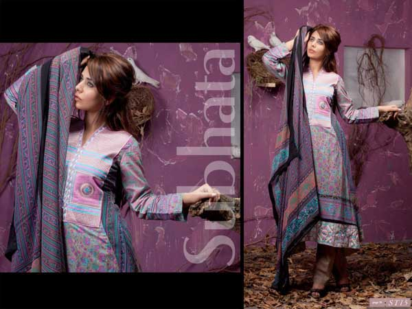 Shariq Textiles Subhata Mid Summer Masakali Eid Collection 2012-2013