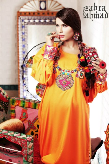 Zahra Ahmad Latest Colorful Monsoon Dress Collection 2012-13
