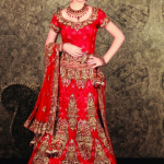 bridal lehenga choli fashion red 2012