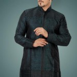utsav new linen pathani suit ready made collection 2012 13 for men 002