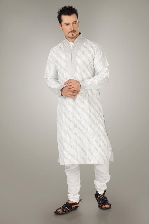utsav new linen pathani suit ready made collection 2012 13 for men 004