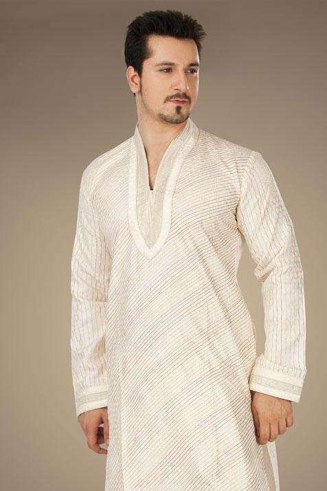 utsav new linen pathani suit ready made collection 2012 13 for men