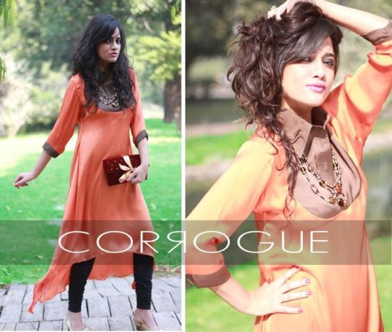 Corrogue Latest Winter Party Wear Outfits 2012-2013 For Women 001