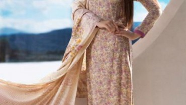 Firdous Cloth Mills Latest Winter Paris Linen Dresses 2012-13 For Women 001