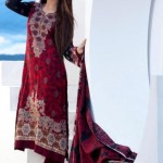Firdous Cloth Mills Latest Winter Paris Linen Dresses 2012-13 For Women 002