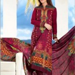 Firdous Cloth Mills Latest Winter Paris Linen Dresses 2012-13 For Women 004