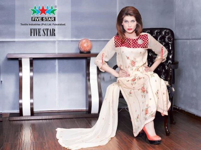 Five Star Textiles Latest Winter Dress Collection 2012-13 For Women (4)