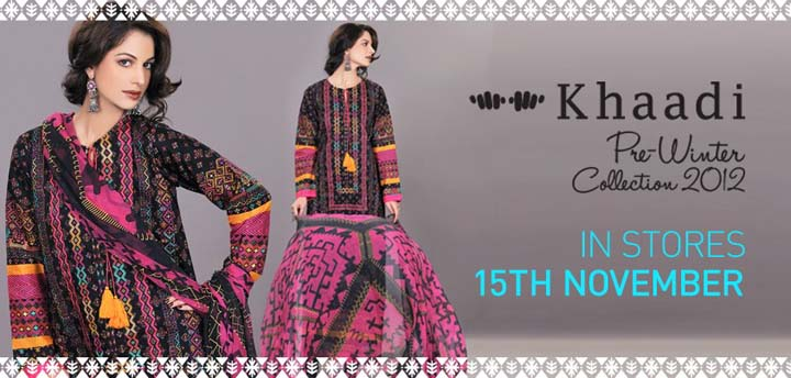Khaadi Pre Latest Fall Winter Dresses Collection 2012-13 For Women (2)