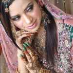 Latest Bridal Mehndi Dress Collection 2012-13 For Girl