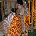 Latest Bridal Mehndi Dress Collection 2013 For Women