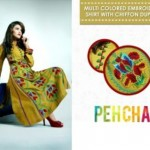 Latest Pehchan party wear Winter Dress Collection 2012-13 for girls