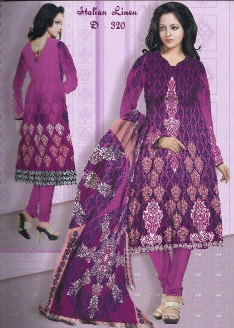 Latest Winter Italian Linen Dresses 2012-13 For Women By Lala Textiles 006
