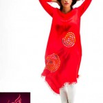 Rashk Winter Dresses Hot Flame Collection 2012-13 For Women