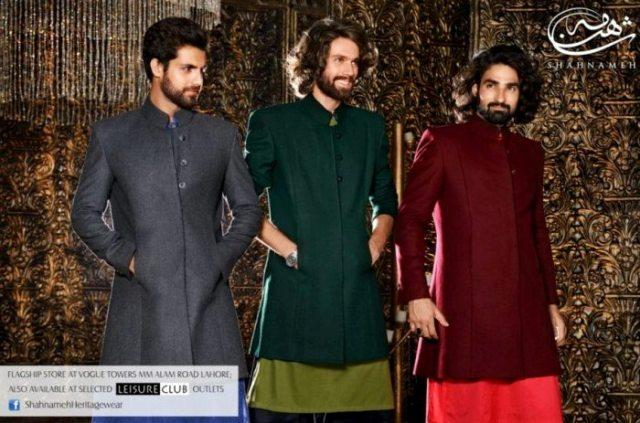 Shahnameh Latest Winter Kurta Dresses 2013 For Men & Boys 001