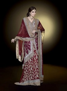 Ahsan Hussain Latest Bridal Wear Collection 2013-14 For Women