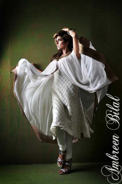 Ambreen Bilal Latest Women Semi Formal Winter Dresses 2013 007