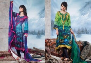 Charizma Latest Pure Printed Pashmina Winter Dresses 2012-2013 For Women 006