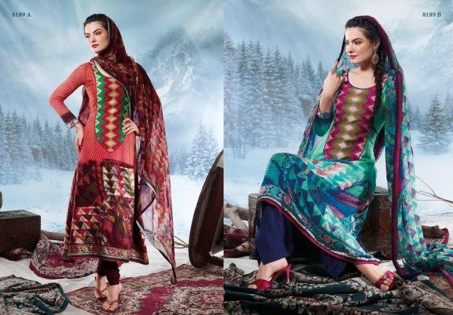 Charizma Latest Pure Printed Pashmina Winter Dresses 2012-2013 For Women 007