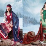 Charizma Latest Pure Printed Pashmina Winter Dresses 2012-2013 For Women 009