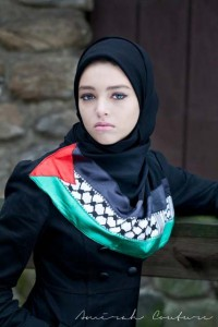 Falesteen Latest Hijab Abayas Fashion Black Ice Winter Collection 2013 by Amirah Couture