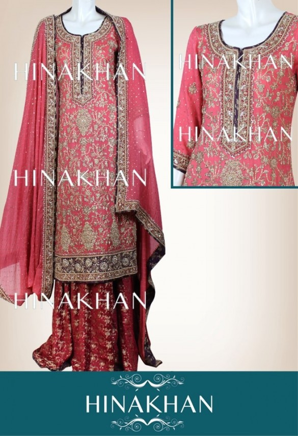 Hina Khan Latest Bridal And Formal Collection 2013 005