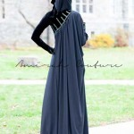 Latest Hijab Abayas Fashion Black Ice Winter Collection 2012-2013
