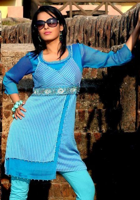 Latest Uzma Creation winter tops and tunics collection 2012-13 for women (6)