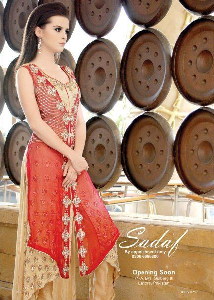 Latest Winter Dresses 2013 For Women By Sadaf Dziner Studio 008