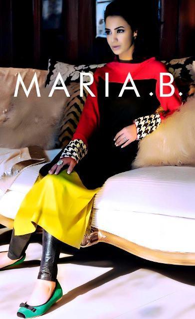 Maria B Latest Winter Dresses 2013 For Women 004