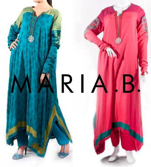 Maria B Latest Winter Dresses 2013 For Women