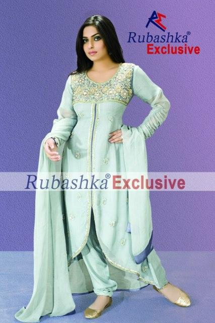 Rubashka Exclusive Latest Winter Party Wear Outfits 2013 For Women 007